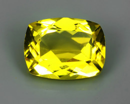 2.10 CTS MARVELOUS LUSTER EXCELLENT YELLOW NATURAL BERYL CUSHION GEM NR!