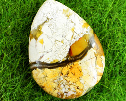 Genuine 25.00 Cts Untreated Pear Shape Brecciated Mookaite Cabochon