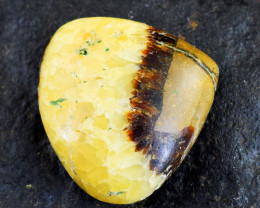 Genuine 50.00 Cts Untreated Pear Shape Septarian Agate Cabochon