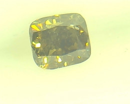 0.29ct  Fancy Dark Brown Green Diamond , 100% Natural Untreated
