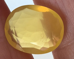 ⭐7.70ct GOLDEN YELLOW MEXICAN FIRE OPAL No reserve