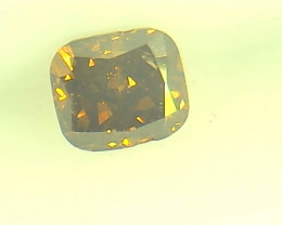 0.22ct  Fancy Dark Red Brown Diamond , 100% Natural Untreated