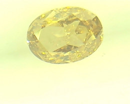 0.27ct Fancy Yellow Brown  Diamond , 100% Natural Untreated
