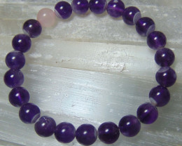 collective  amethyst beads bracelet  83.95 cts