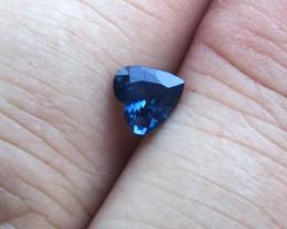 0.80cts Natural Australian Blue Sapphire BHeart Cut