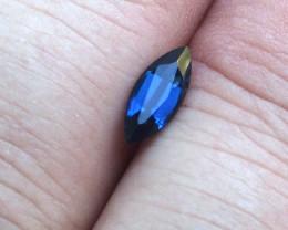 0.73cts Natural Australian Blue Sapphire Marquise Cut