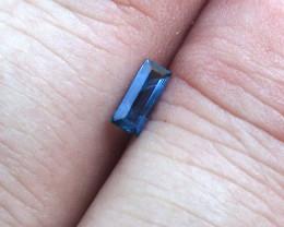 0.34cts Natural Australian Blue Sapphire Baguette Cut