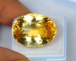 39.54ct Yellow Citrine Oval Cut Lot A449