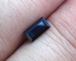 0.95cts Natural Australian Blue Sapphire Baguette Cut