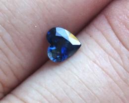 0.83cts Natural Australian Blue Sapphire Heart Shape