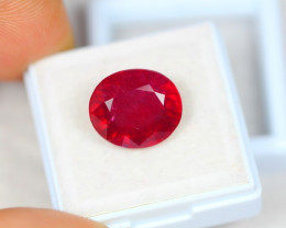 9.97ct Blood Red Color Ruby Oval Cut Lot A454