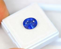 3.45ct Blue Sapphire Composite Oval Cut Lot A456