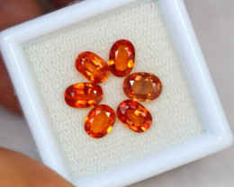3.78ct Songea Orange Sapphire Oval Cut Lot A466