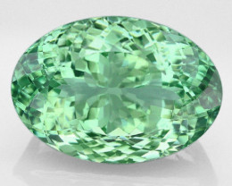 22 Ct VVS  Green Amethyst Prasiolite from Brazil