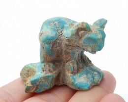 Hand carved koala ,animal cabochon ,turquoise koala ,best gift B16