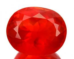 ~BEAUTIFUL~ 2.32 Cts Natural Reddish Orange Fire Opal Oval Cut Mexico