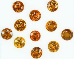 8.85 Cts Natural Zircon Orange Round (DIAMOND CUT) Tanzania - 5 & 4.5 m