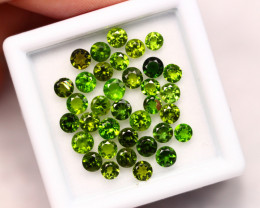 4.24cts Natural Green Colour Chrome Diopside Lot 3mm