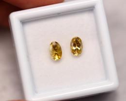 0.98cts Natural Yellow Colour Tanzanite Pair
