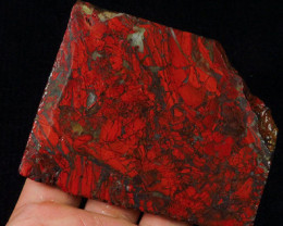 593Ct Blood Poppy Jasper Slab Facet Rough AAA+ Quality