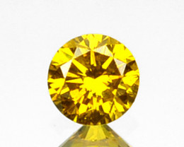 0.10 Cts Natural Sparkling Yellow Diamond Round Africa