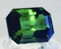 Pretty Platinum Green Modified Emerald Cut Tourmaline, Afghanistan - G256