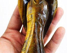 Genuine 1075.00 Cts Golden Tiger Eye Healing Angel