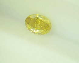 0.21ct Fancy Intense greenish Yellow   Diamond , 100% Natural Untreated
