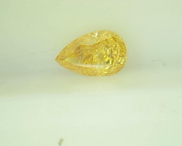 0.27ct Fancy Vivid brownish Yellow   Diamond , 100% Natural Untreated