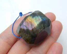 143.5ct Faceted Labradorite  Pendant , healing Stone Wholesale  B28