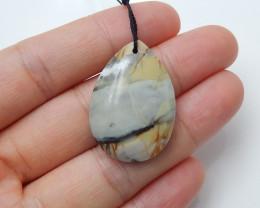 36.5cts Natural picasso jasper ,oval pendant ,gemstone pendant B42