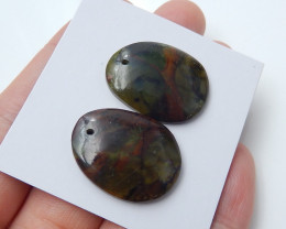 Mushroom Jasper Pendant Beads , healing Stone ,designer making B45