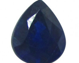 0.82 ct Pear Shape Blue Sapphire  (Deep Darkish Blue)