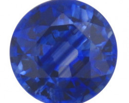 0.44 ct Round Blue Sapphire  (Rich Royal Blue)
