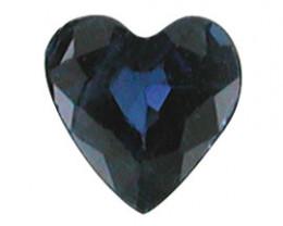 0.18 ct Heart Shape Blue Sapphire  (Deep Blue)