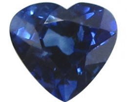 0.74 ct Heart Shape Blue Sapphire  (Royal Blue)