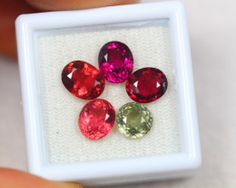 6.79Ct Mix Color Tourmaline Mix Oval Round Cut Lot A484
