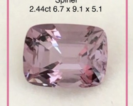 Luminous Purple  Pink Cushion Cut Spinel - Burma G393