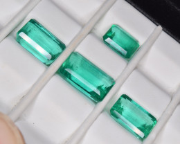 GIA Certified Natural Emeralds Set 13.80 Cts from Colombia