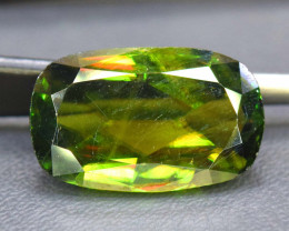 8.85 Carats Natural Full Fire Chrome Sphene Titanite Gemstone