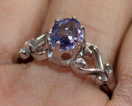 Natural Amethyst 925 Silver Ring Size (8 US) 145