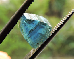 1.95ct BLUE TOURMALINE POLISHED SLICE FROM AFGHANISTAN