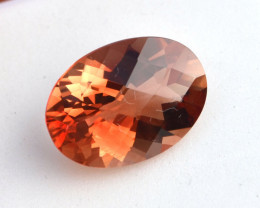 6.10 Carat Sunstone -- Top Quality Oval Checkerboard Certified Stone