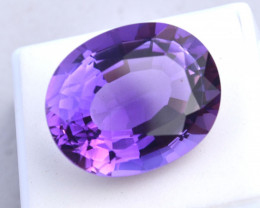 28.52 Carat Amethyst -- Top Quality Certified Stone