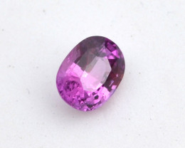 1.29 Carat Pink Sapphire -- Top Quality Certified Stone