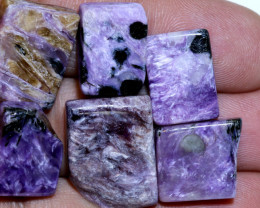 PURPLE CHAROITE 6 RECTANGLE STONES 73 CTS ADG-334