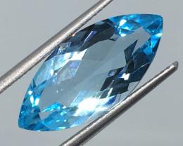 8.07 Carat VVS Topaz Swiss Blue Marquise Exquisite Quality !