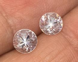 2.15 Carat VVS Zircon Pair Diamond White Brilliant Quality !