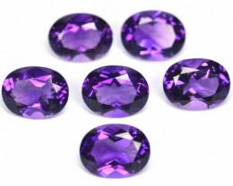 10.15 Cts Natural AAA Purple Amethyst 9x7mm Oval 6 Pcs Bolivia