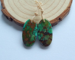18cts turquoise earrings ,Oval earrings ,healing stone ,Matching Pair B53